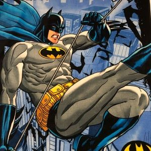 "Batman fleece blanket marvel soft and fuzzy 60x46"""